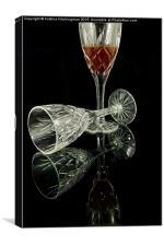 Port Crystal Glasses, Canvas Print