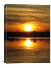 Sunset in Washington D.C, Canvas Print