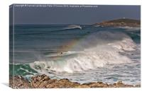 Fistral Newquay Rainbow, Canvas Print