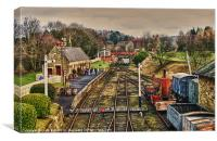 Beamish Railway, Canvas Print