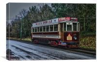Beamish Tram, Canvas Print