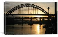 Tyne Sunset, Canvas Print