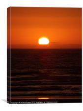 Beach Sunset, Canvas Print