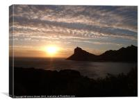 Sunset from Chapman's Peak Drive, Canvas Print