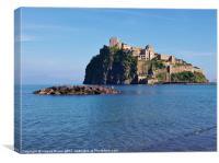 Aragonese Castle in Ischia, Canvas Print