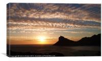 Sunset from Chapman's Peak, Canvas Print