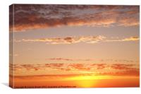 Colorful sky at sunset, Canvas Print