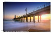 Huntington Beach Pier Sunset, Canvas Print