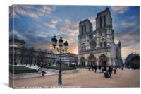 Notre Dame Cathedral Paris 2.0, Canvas Print