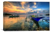 Butalid Causeway Sunset, Canvas Print
