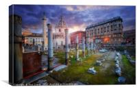 Basilica Ulpia And Trajan's Column, Canvas Print