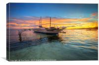 Panglao Island Sunrise, Canvas Print