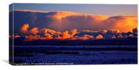 Snow storm sunset Lewis, Canvas Print
