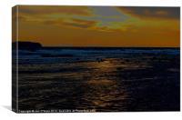 BEACH SUN REFLECTION, Canvas Print