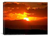 SUNRISE DAWN DELIGHT, Canvas Print