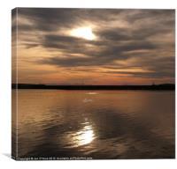 SPOT LIGHT HARBOUR REFLECTION, Canvas Print