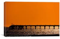 HEBRIDES JETTY SILHOUETTE, Canvas Print