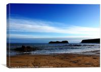 HEBRIDES BEAUTIFUL BAYBLE BEACH OF LEWIS 4, Canvas Print