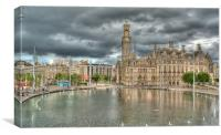CITY PARK BRADFORD, Canvas Print