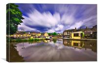 Skipton on a windy day, Canvas Print
