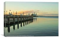 Sunset at Geelongs Cunningham Pier, Canvas Print