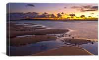 Last light low tide San Remo, Canvas Print