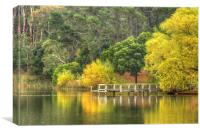 Autumn Lake Daylesford, Canvas Print