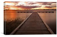 Sunset Lake Wendouree, Canvas Print