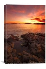 Sunset Tasmania, Canvas Print