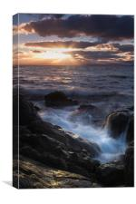 A Tranquil sunset in Primrose Sands, Canvas Print