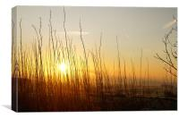 Sunrise over Alport, Canvas Print