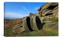 Barney's Wheels Stanage Edge, Canvas Print