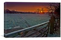 Frosty Wirksworth Sunrise, Canvas Print