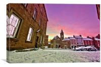 Wintery Wirksworth, Canvas Print