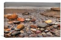 Sandsend Beach, Canvas Print