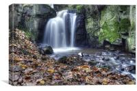 Lumsdale Falls Matlock, Canvas Print