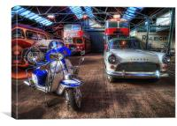 Vintage Vehicles HDR, Canvas Print