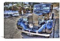 HDR Rolls Royce, Canvas Print