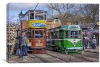 Trams at Crich, Canvas Print