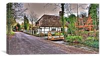 Thatched Cottage Kent, Canvas Print