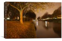 Hythe Canal At Midnight, Canvas Print