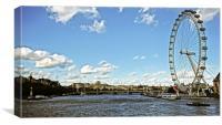 London Eye & Hungerford Bridge, Canvas Print