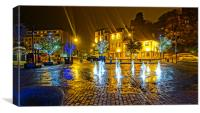 The Folkestone Inner Harbour Fountains, Canvas Print