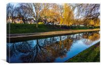 Hythe Canal Kent, Canvas Print