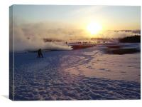 Geysir smoke in the winter, Canvas Print