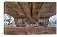 Under flyover, Canvas Print