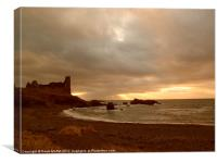 Dunure Castle, Canvas Print