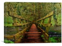Bridge over River Wye, Canvas Print