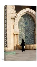 A visit to the Mosque, Canvas Print