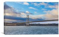 Forth road bridge, Canvas Print
